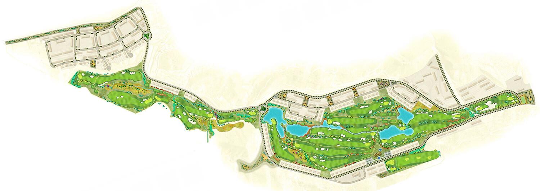 Plano Campo de Golf Font del Llop